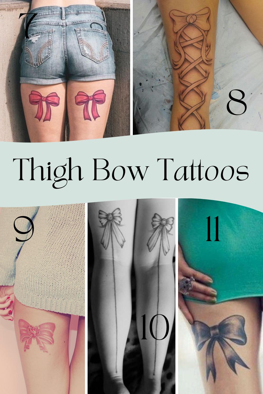 Thigh Bow Tattoo Ideas