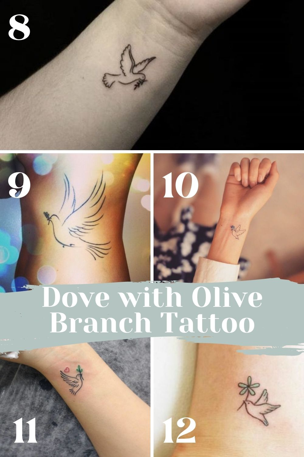 Dove With Olive Branch Tattoo