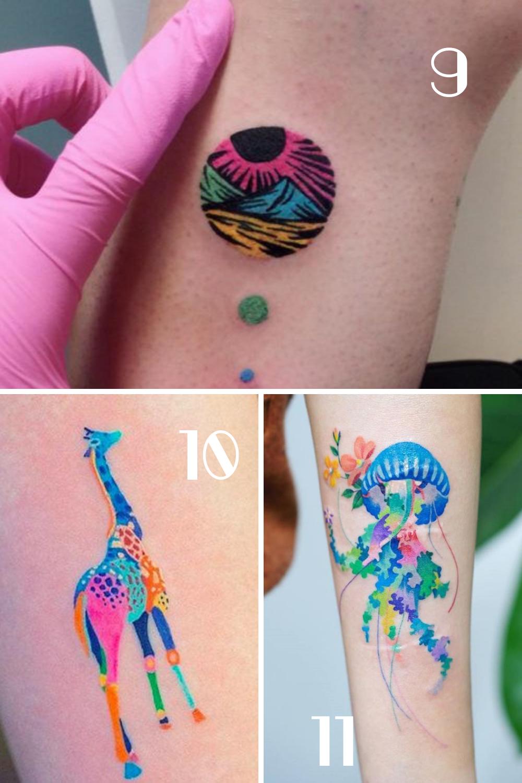 Neon Glow In The Dark Tattoo Designs