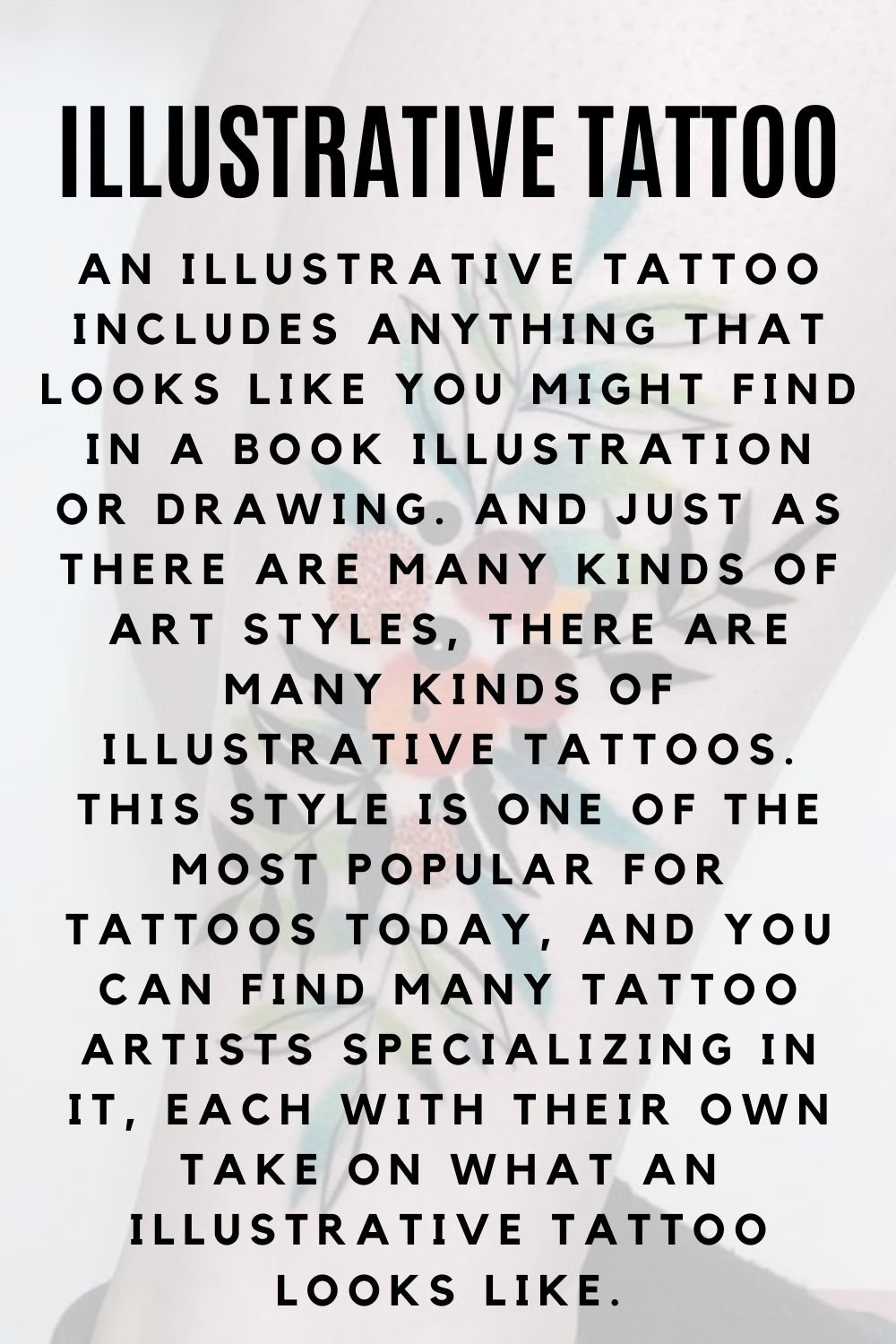 What is an illustrative tattoo