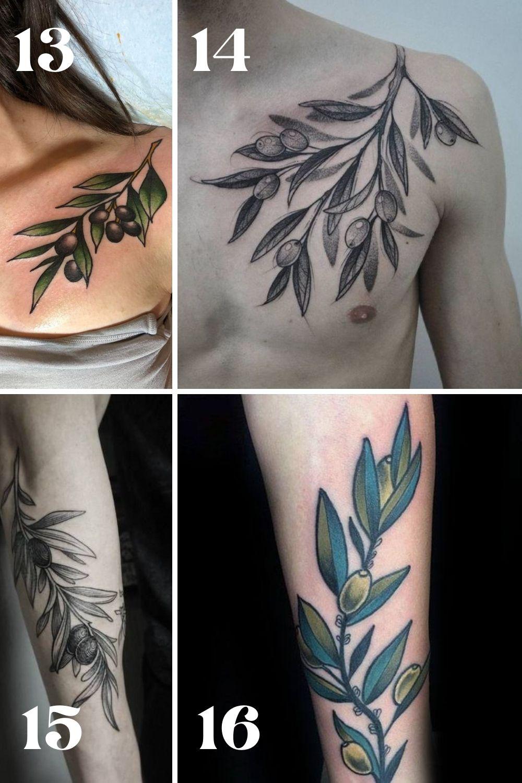 Olive Branch Tattoo Sleeve Ideas