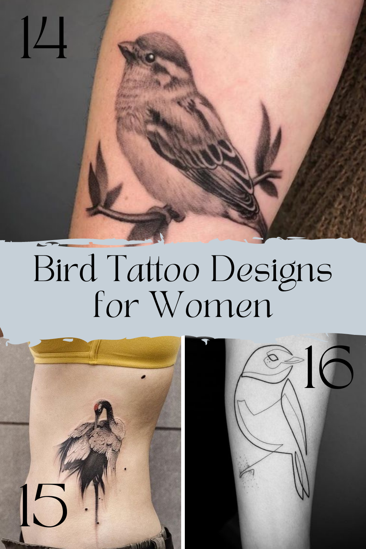 Bird Tattoo Simple Designs for Women