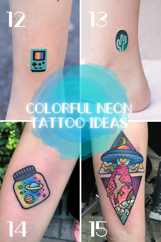 Colorful Neon Light Tattoos