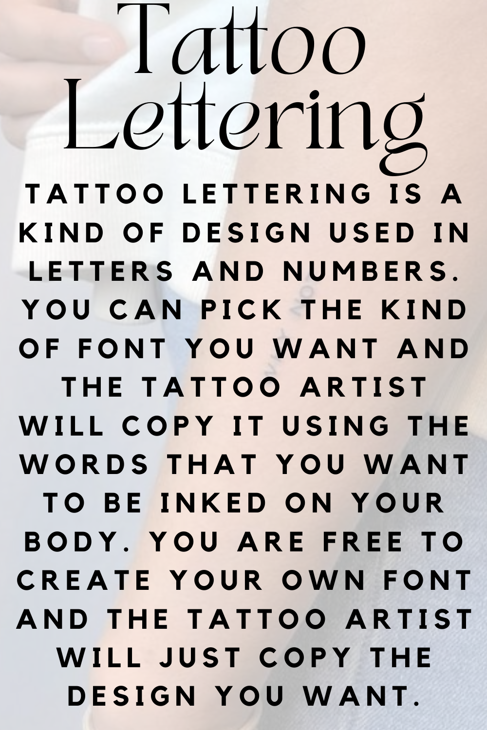 Tattoo Lettering Tips