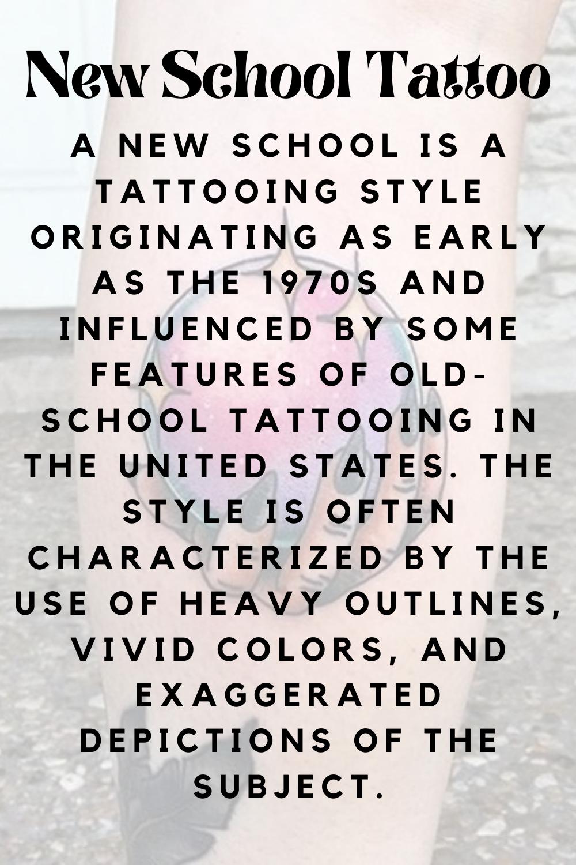 New School Tattoo Definition