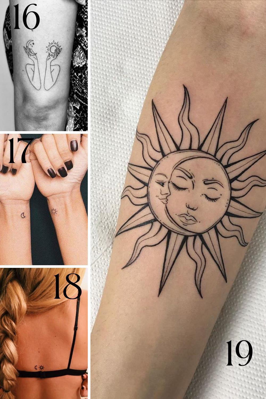 Sun and Moon Tattoo Designs