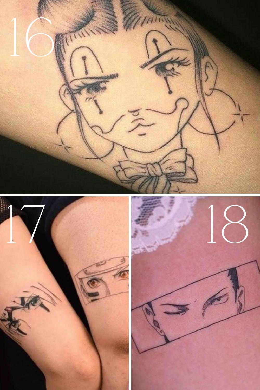 Anime Face Tattoo