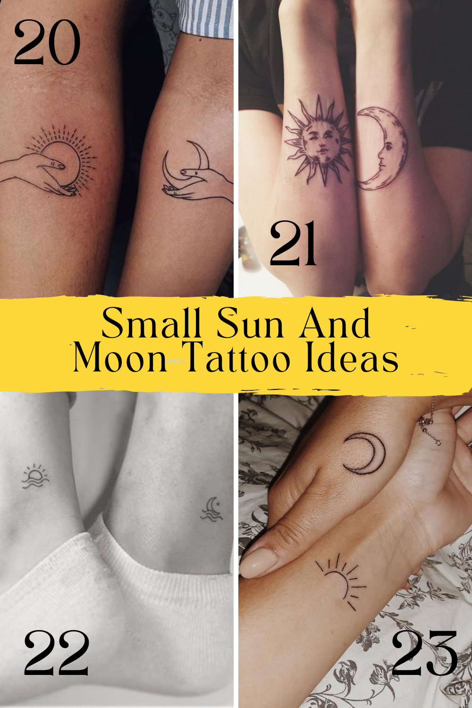 Small Sun And Moon Tattoo Ideas