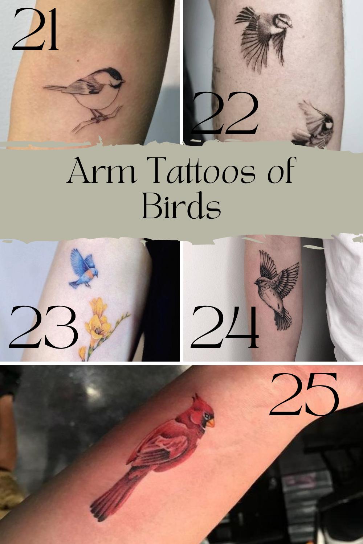 Girl Bird Tattoo Designs For Arm