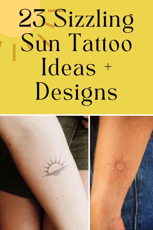 Sun Tattoo Ideas