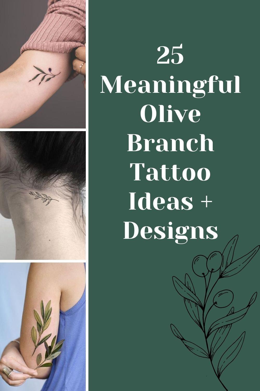 Olive Branch Tattoo Ideas