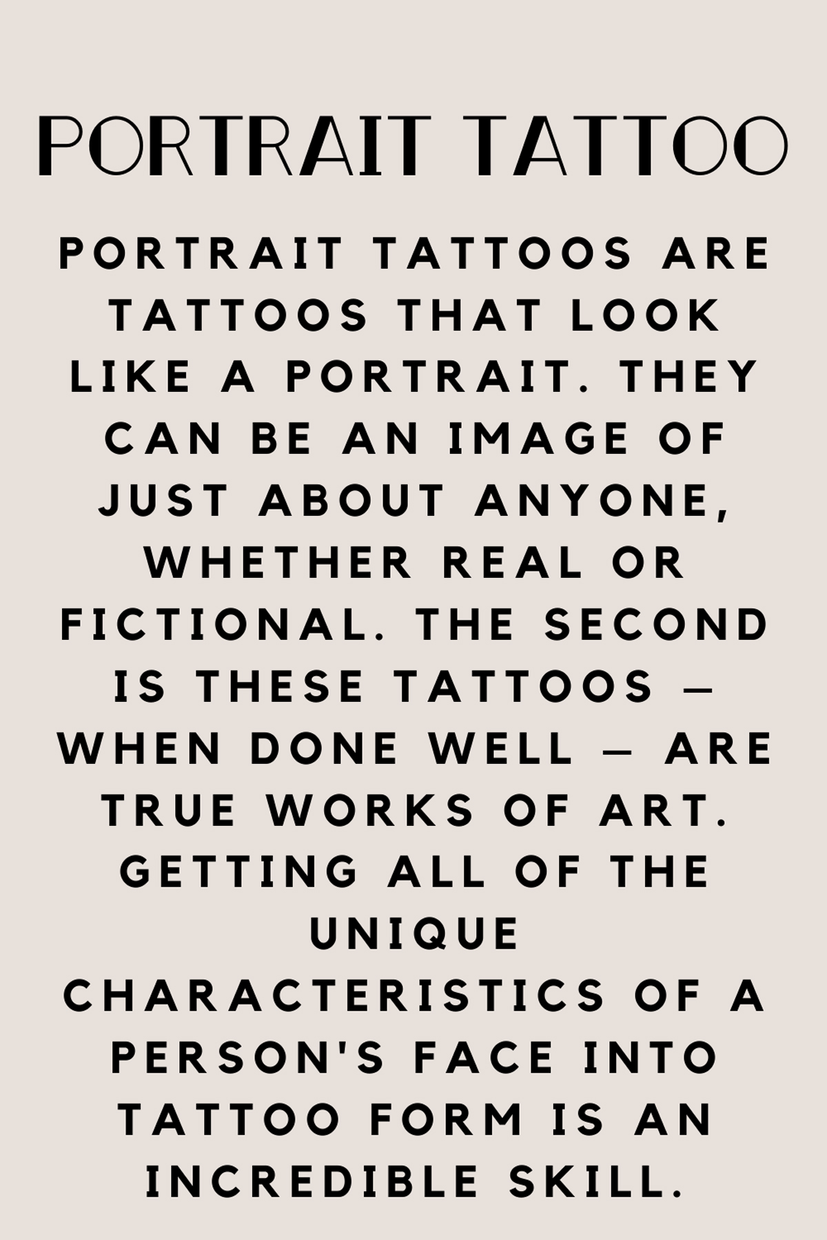 What is a Portrait Tattoo