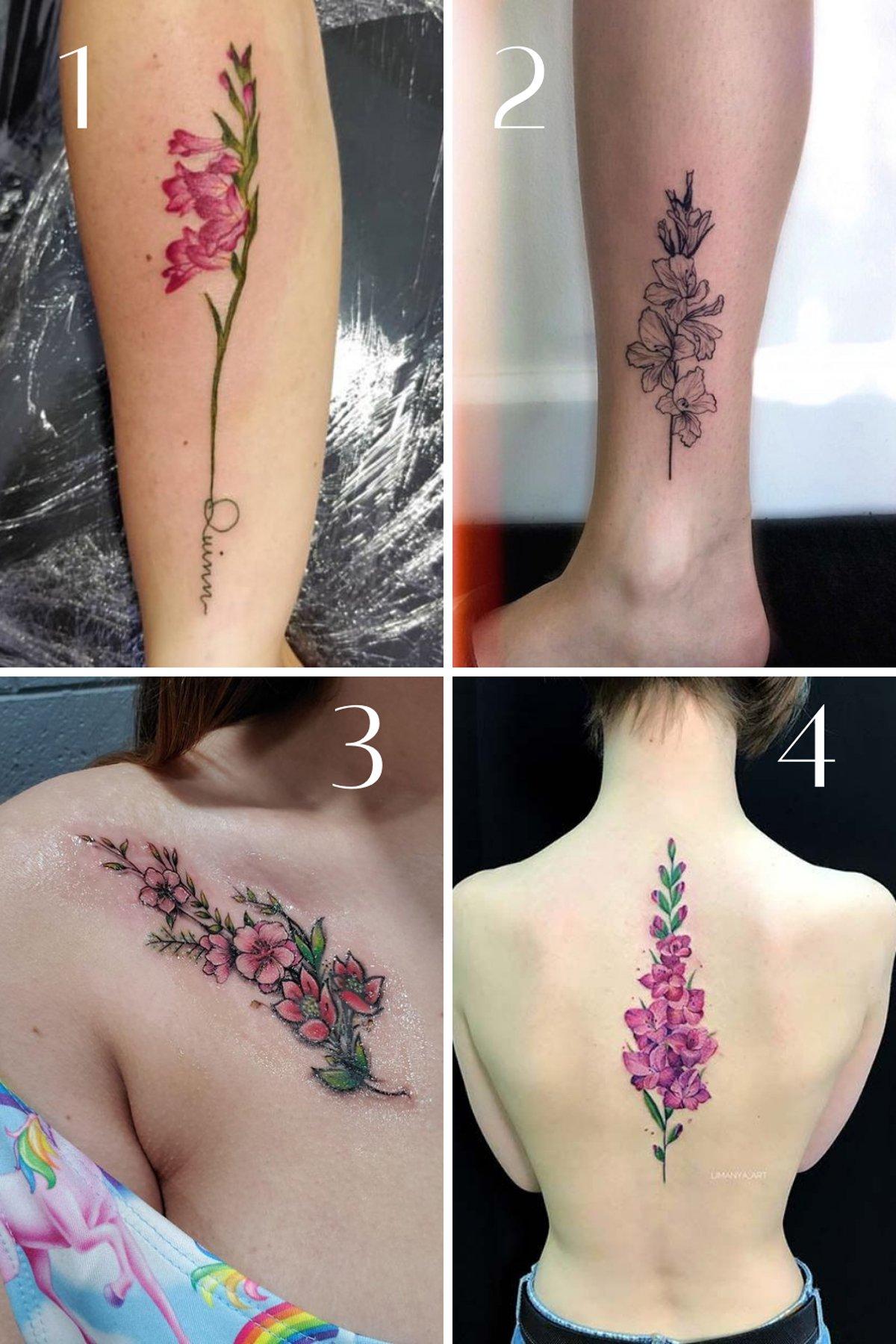 Gladiolus Tattoo Ideas