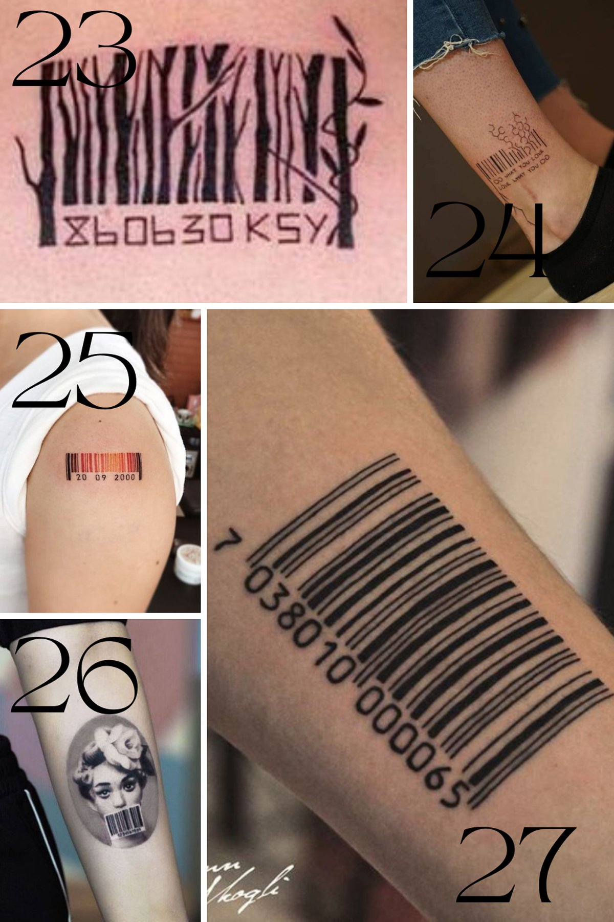 Barcode Design Ideas Tattoos With Dates