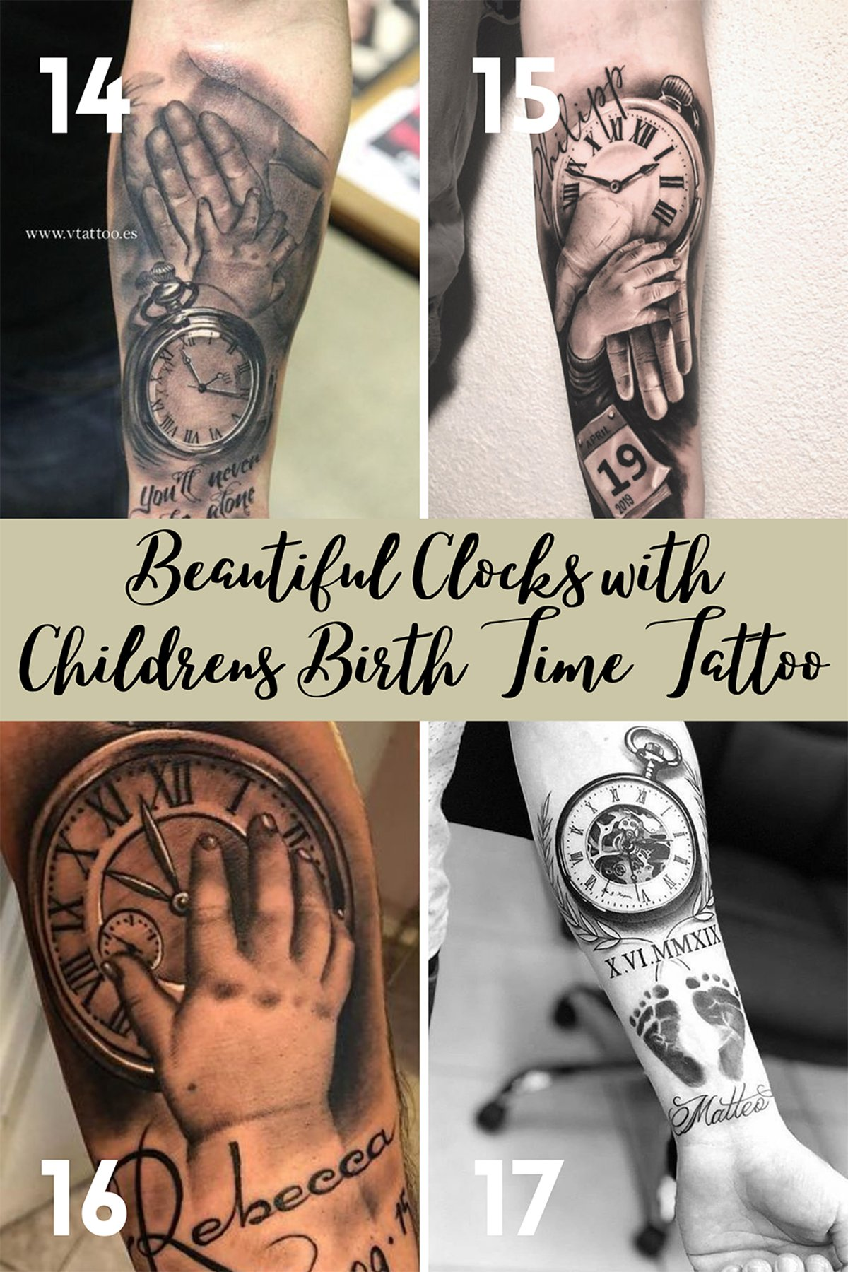 Tattoos of Childs Birth Time