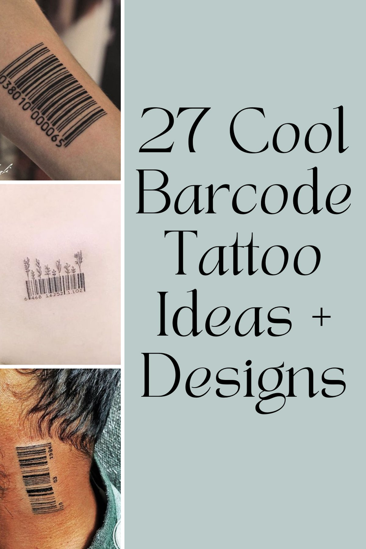 Barcode Tattoo Ideas