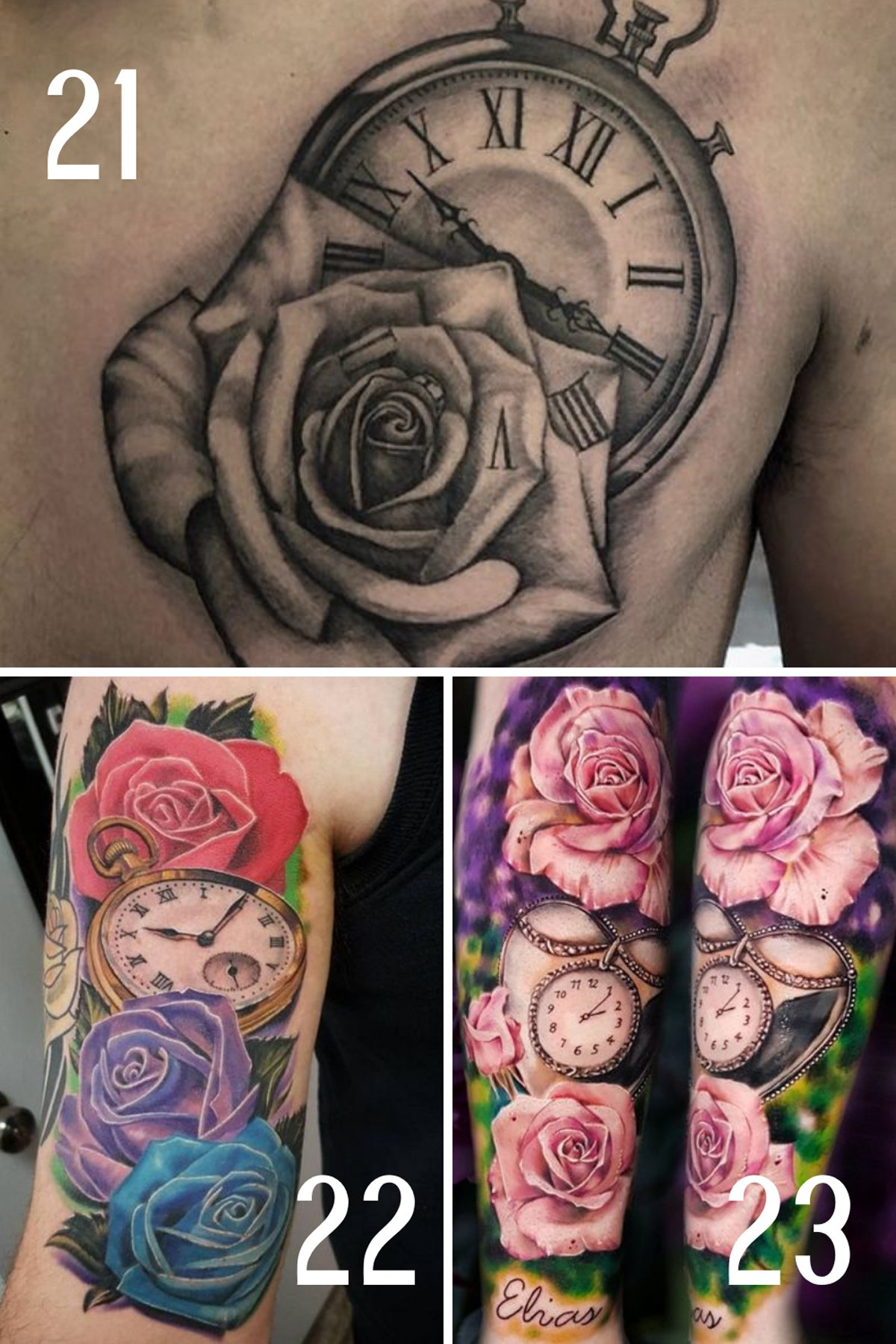 Clock and Time Tattoos