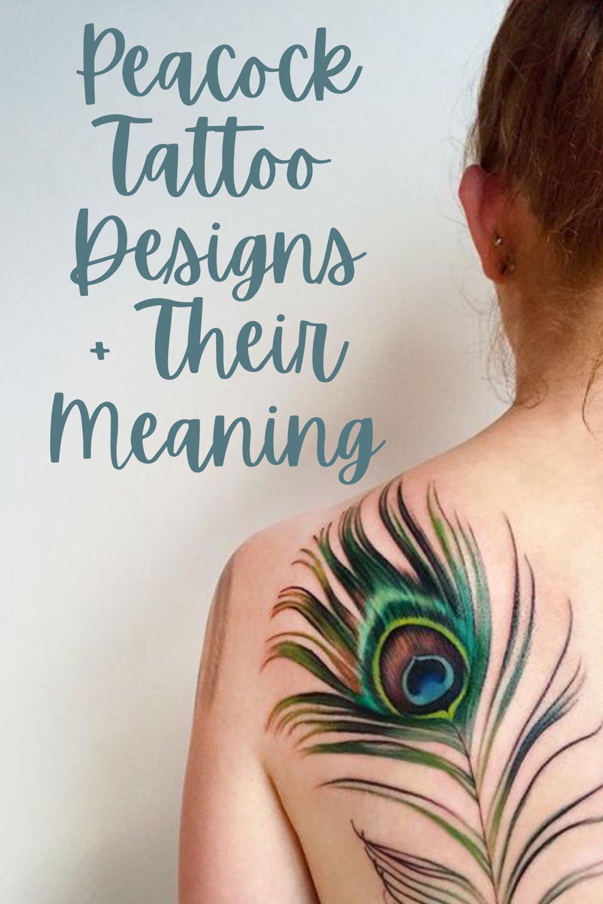 Peacock Tattoo Designs Meaning