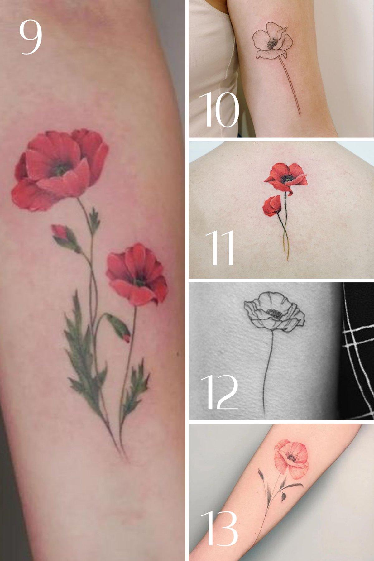 Poppy Tattoo Designs