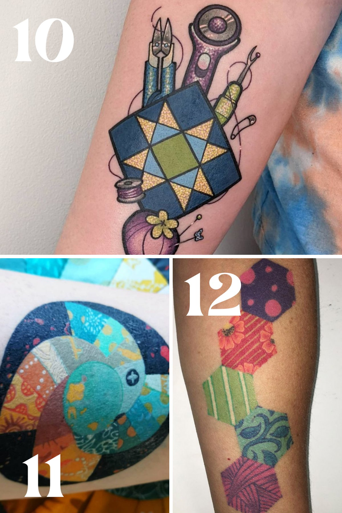 Colorful Ink Ideas of patchwork