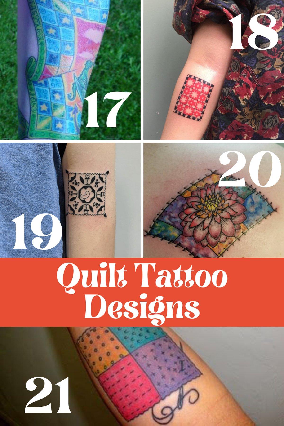 Quilt Tattoo Arm Designs