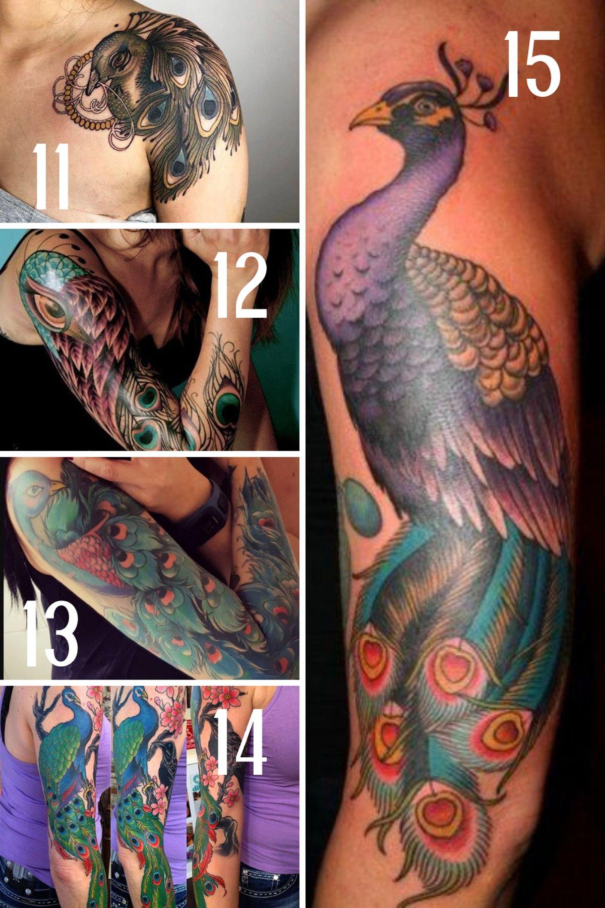 Shoulder Peacock Tattoo