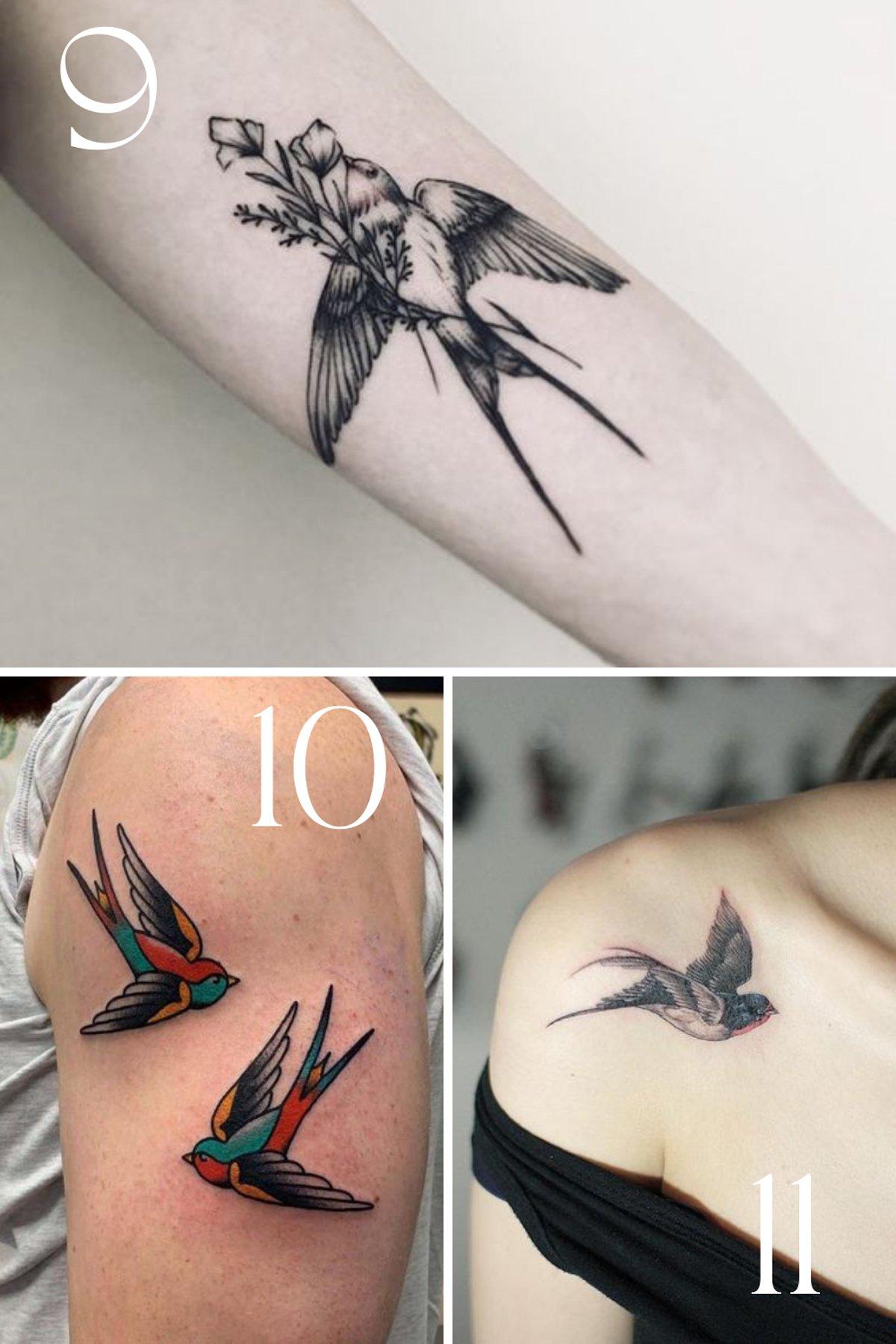 sparrow tattoo inspiration for girls