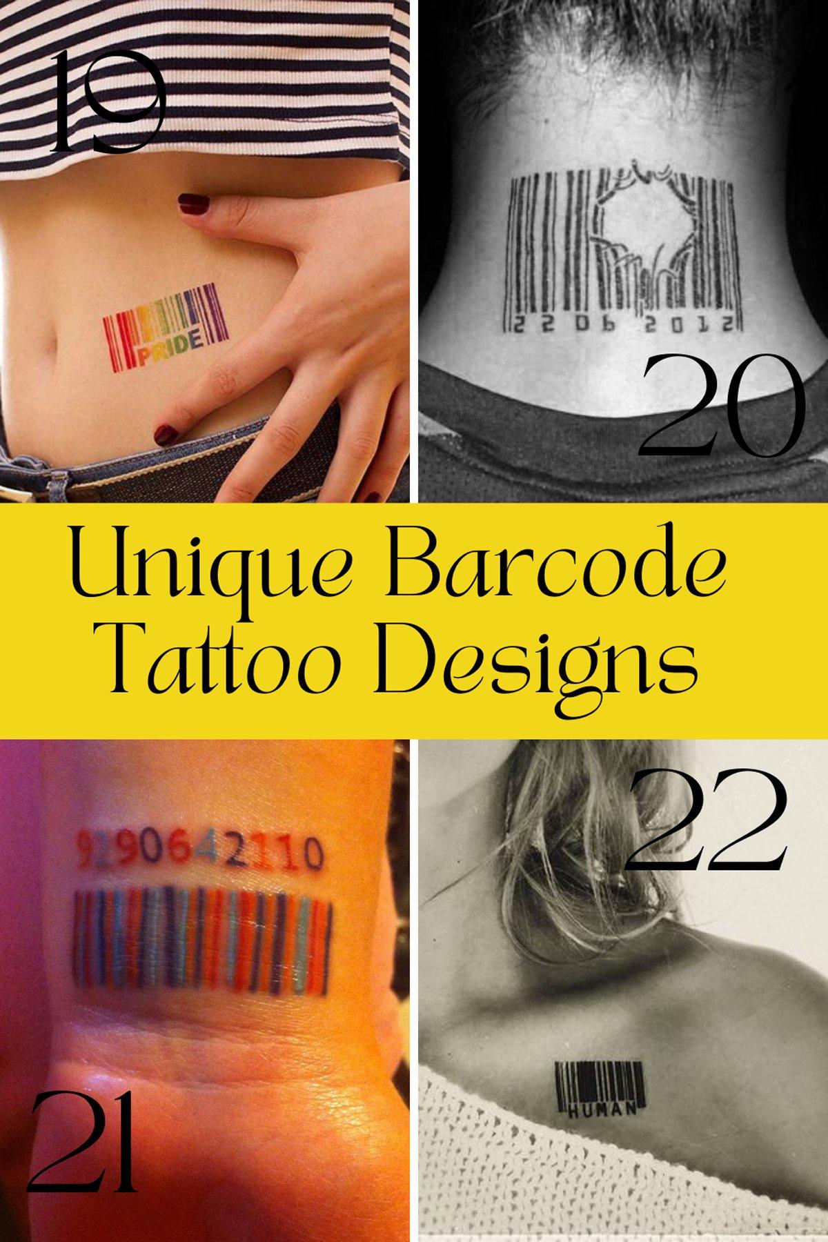 Unique barcode Ink Designs