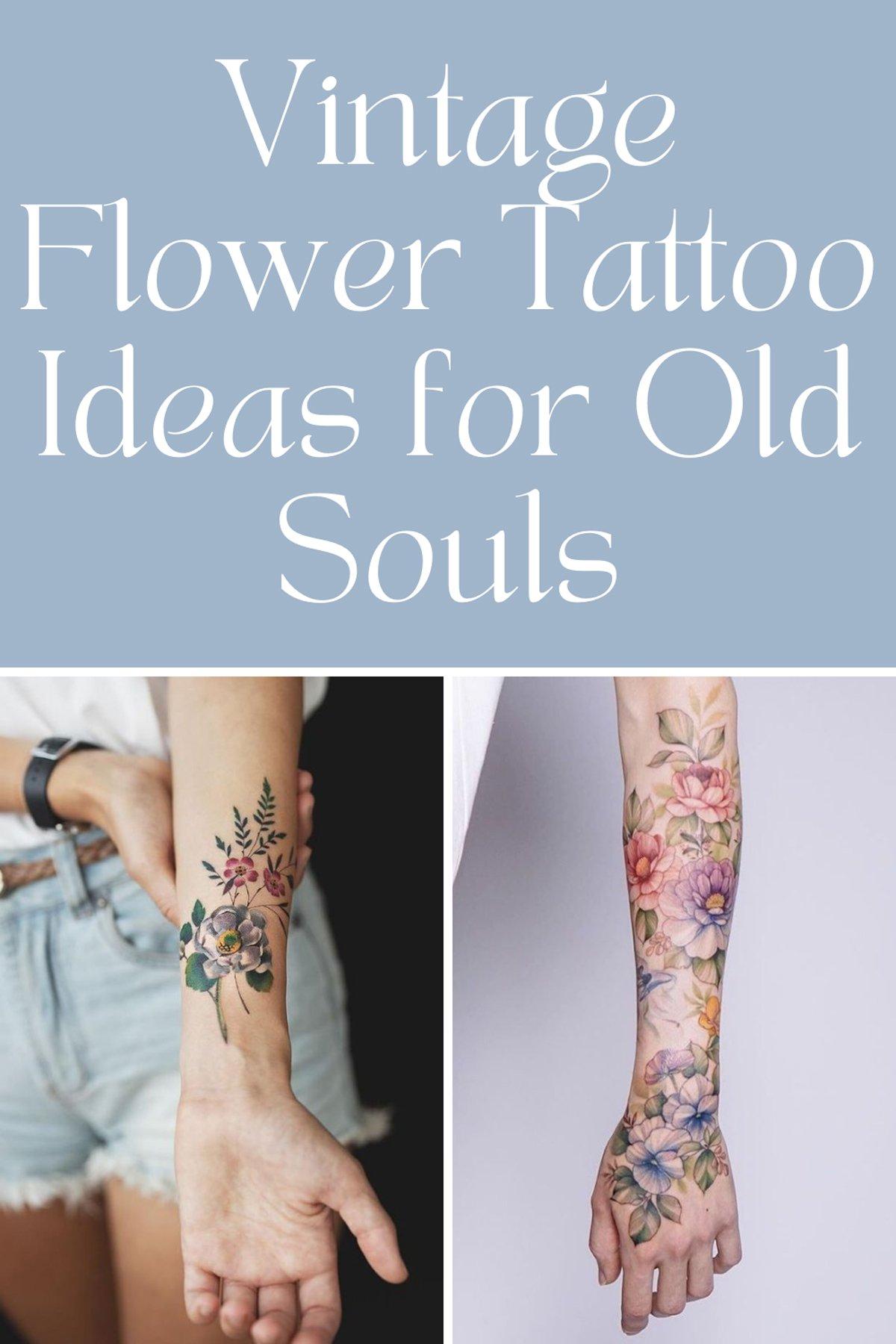 Vintage Flower Tattoos