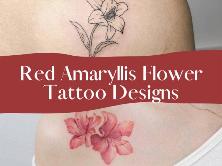 Red Amaryllis Tattoo