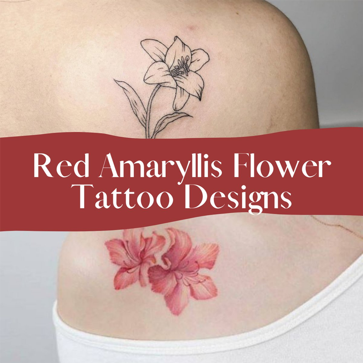 Amaryllis Tattoo Flower