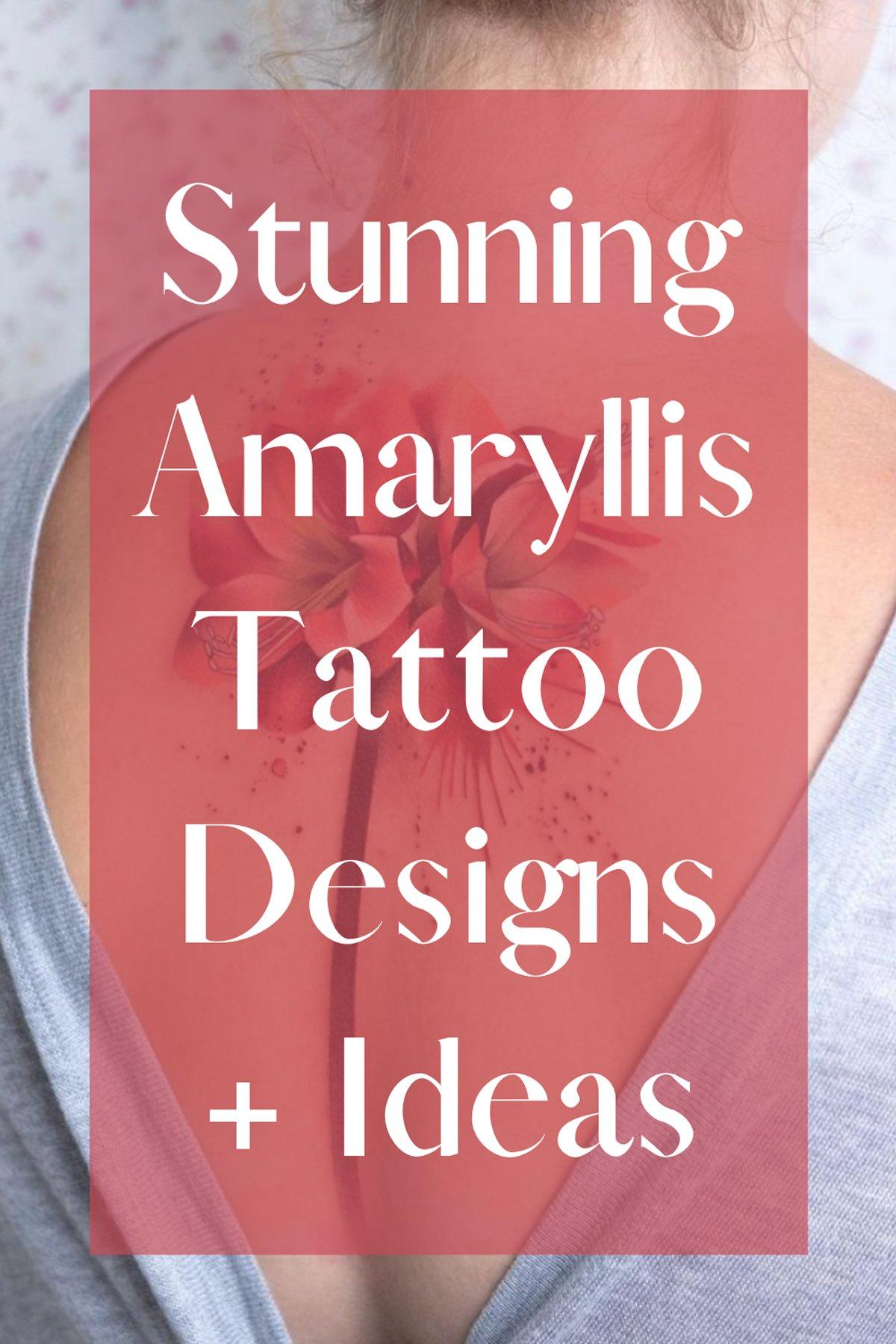Amaryllis Tattoo Ideas