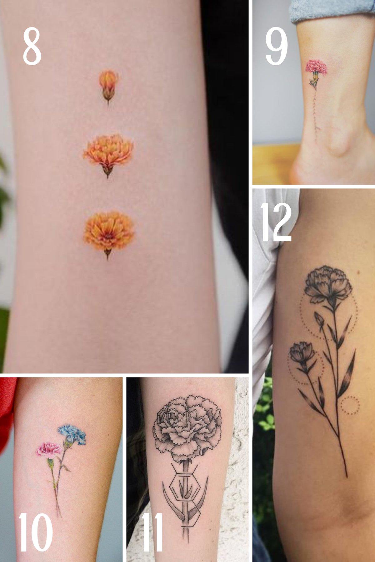Flower Tattoos for January birthdays