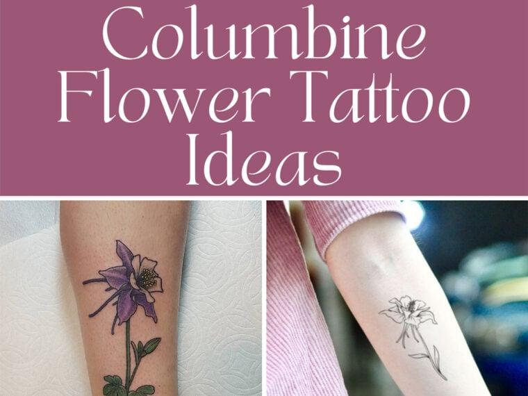Colorado Flower Tattoo