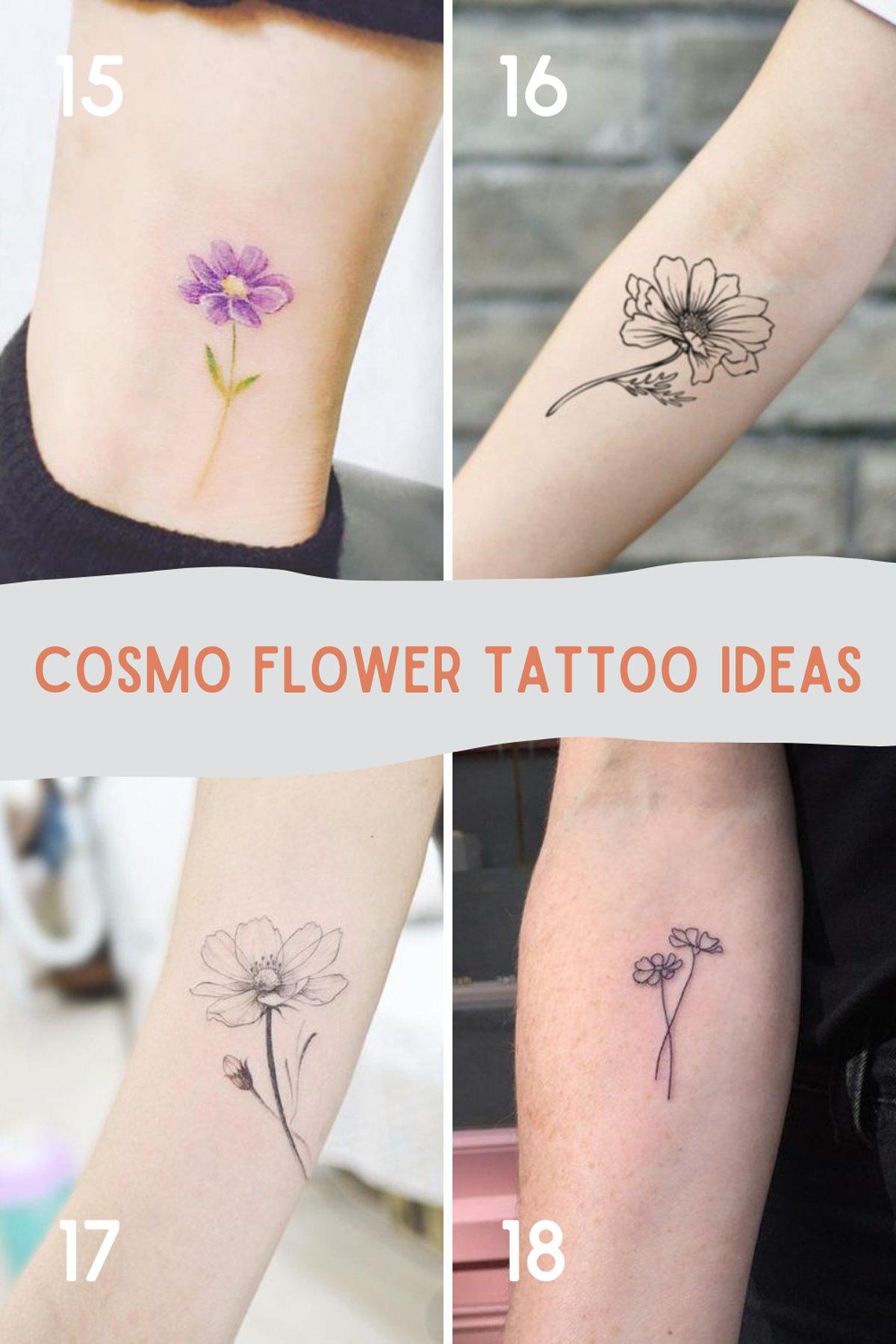 Cosmo Flower Tattoo Ideas