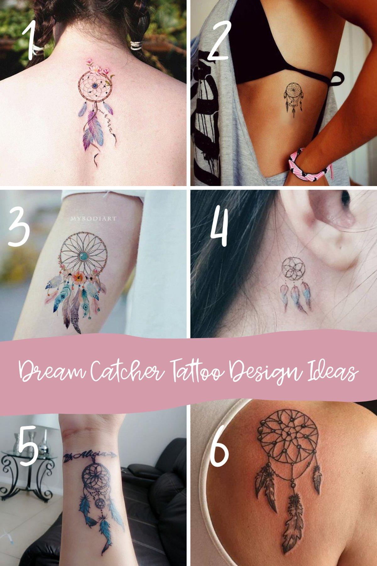 Pretty Dream Catcher Tattoo Ideas