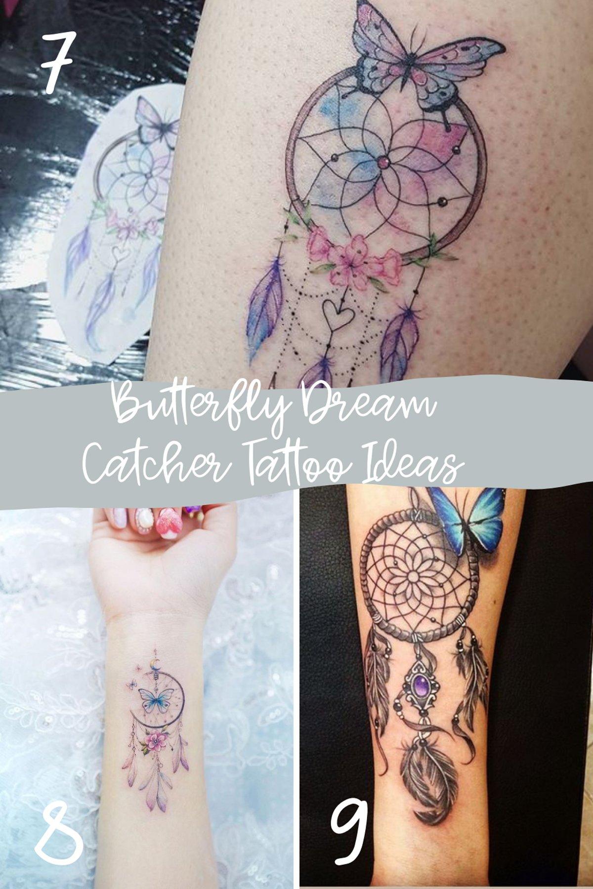 Butterfly Dream Catchers Tattoo Ideas