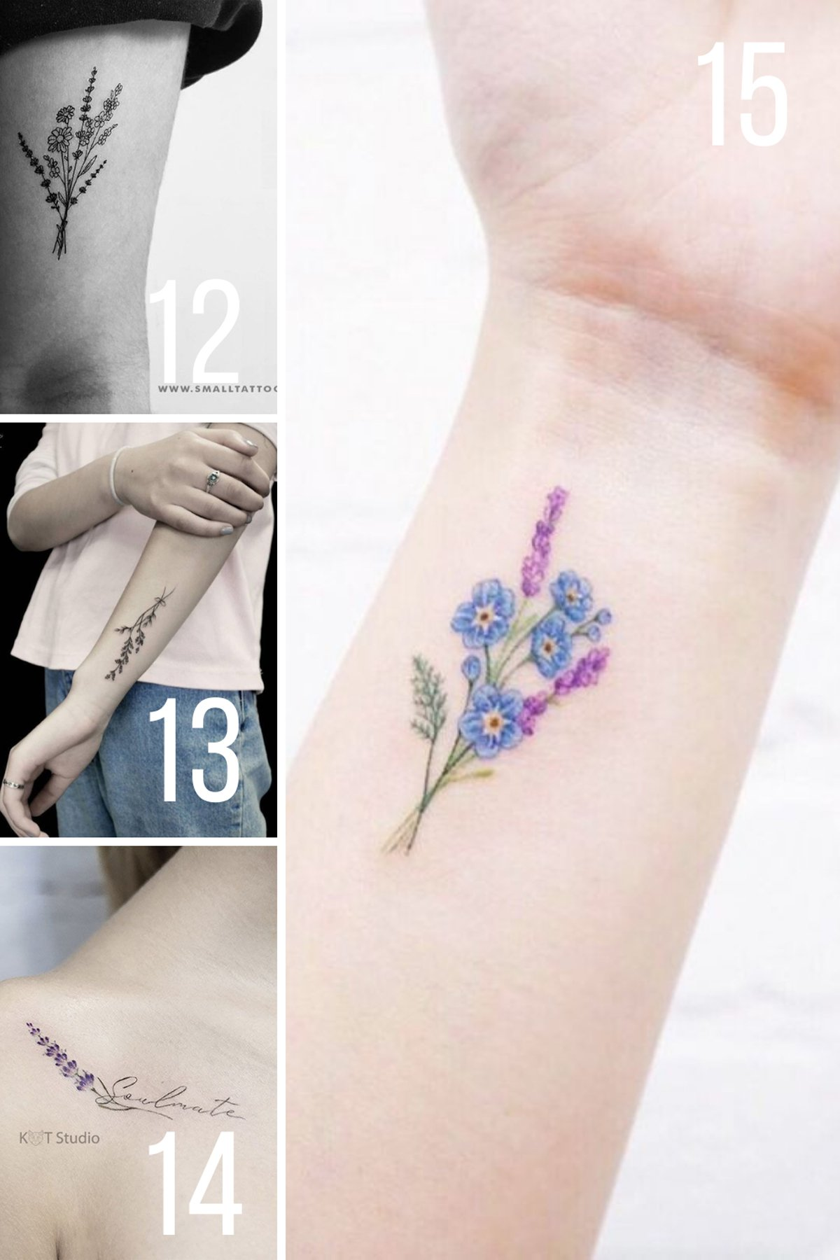 Small Tattoo Ideas for Birth Month