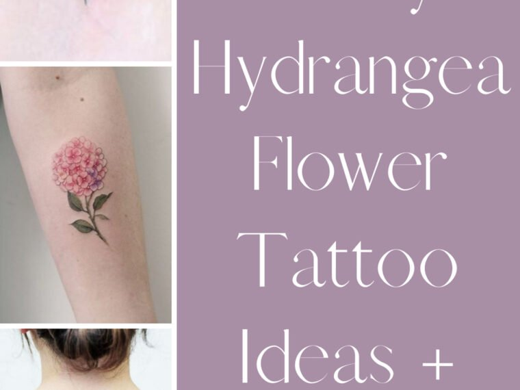 Hydrangea Flower Tattoo