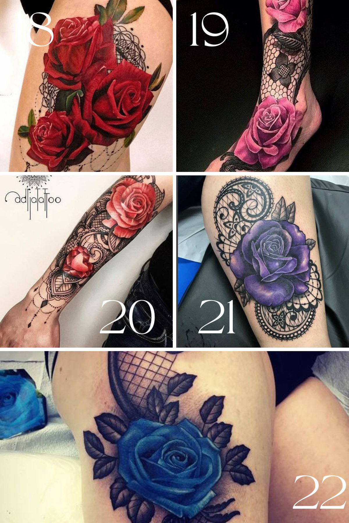Mandala lace tattoo design