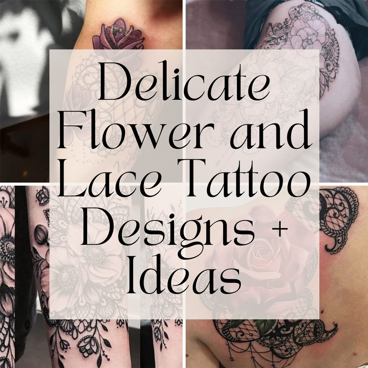 Flower and lave tattoo designs
