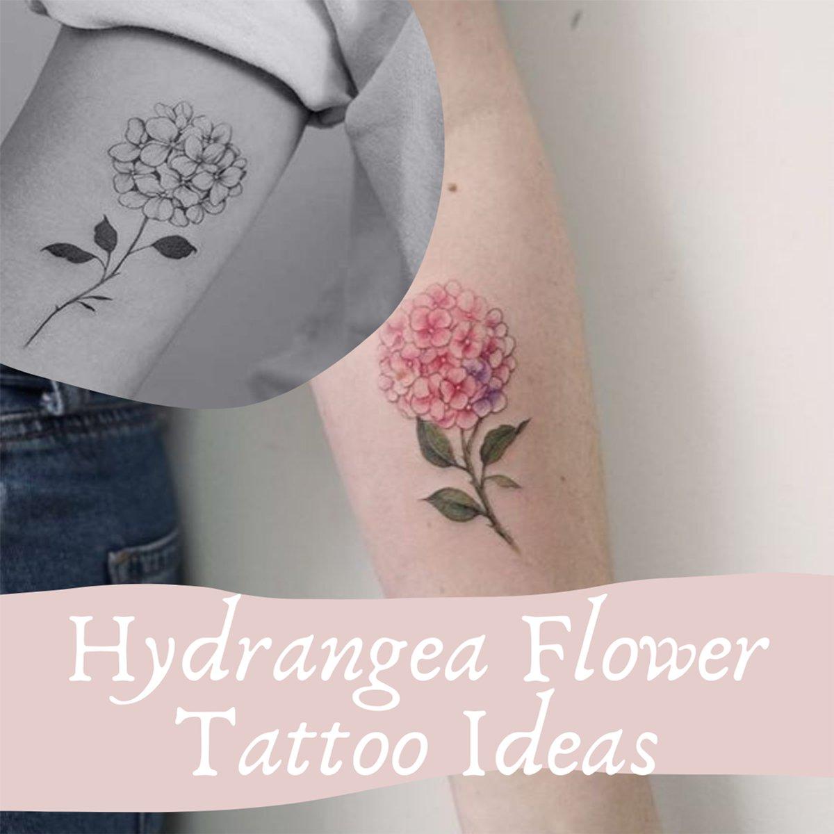 Hydrangea Flower Tattoo Ideas
