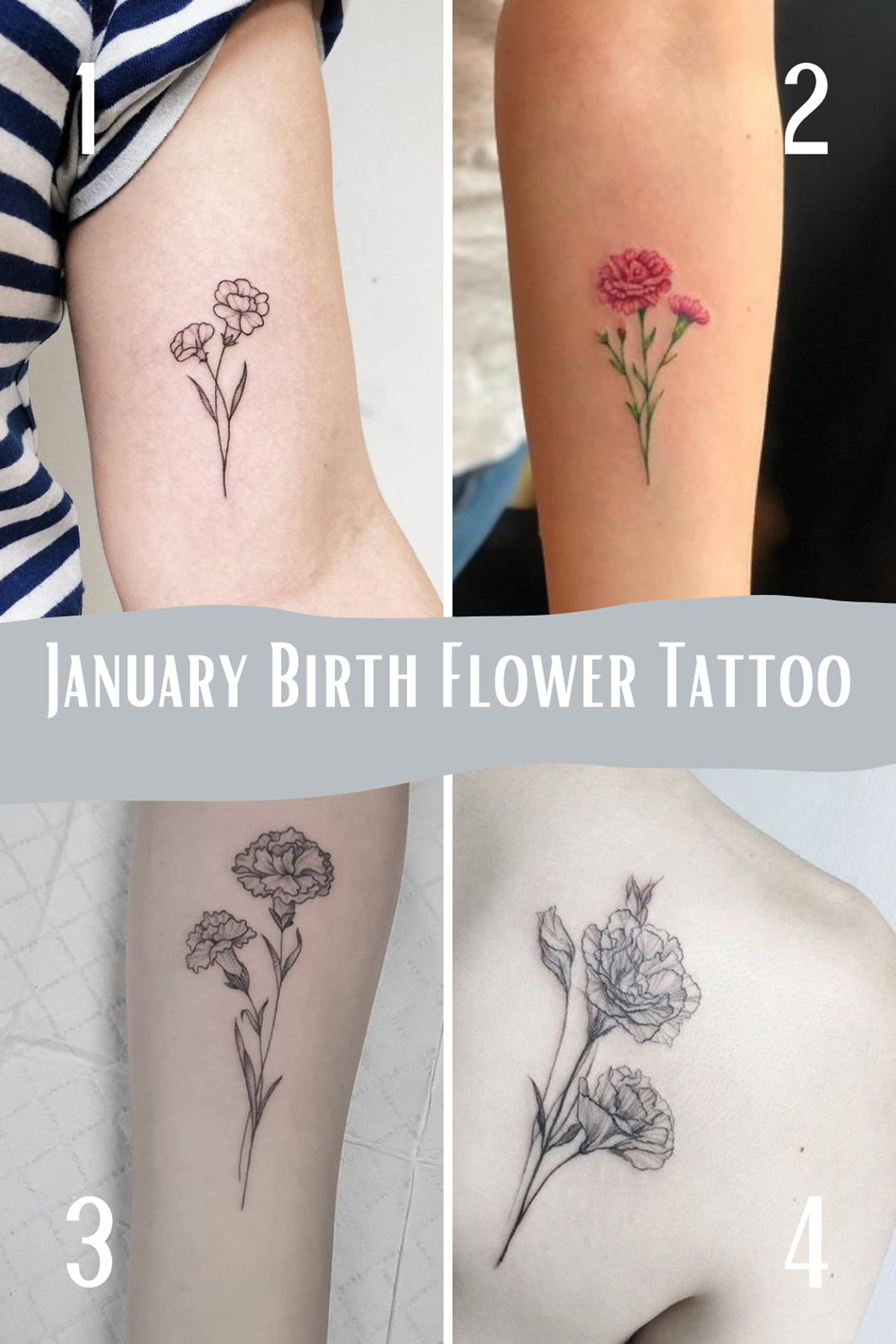 January Birth Month Tattoo