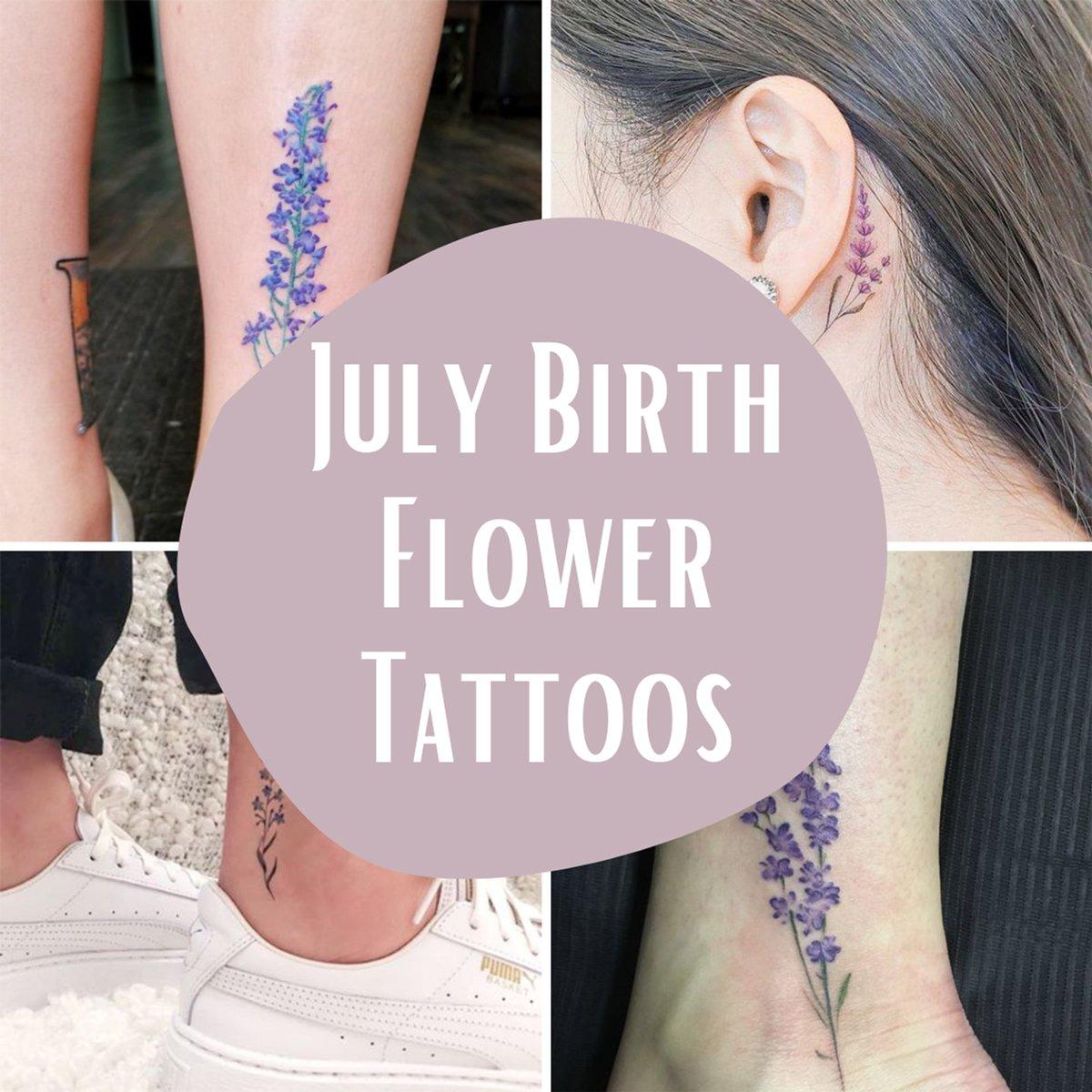 July Birth Flower Tattoos