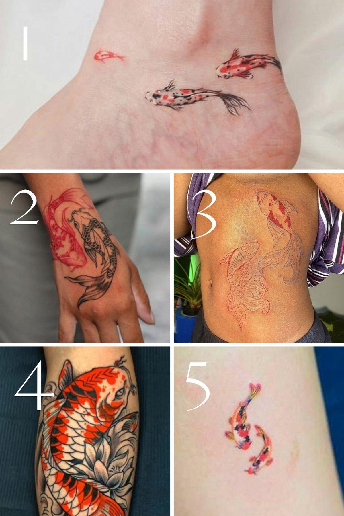 Two Koi Fish Tattoo Ideas