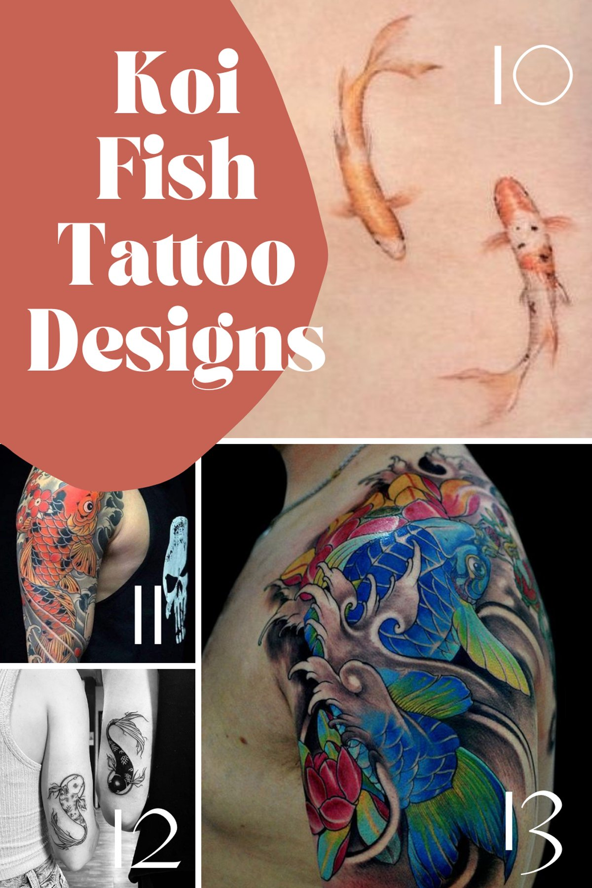 Simple Koi Fish Tattoo Design Ideas