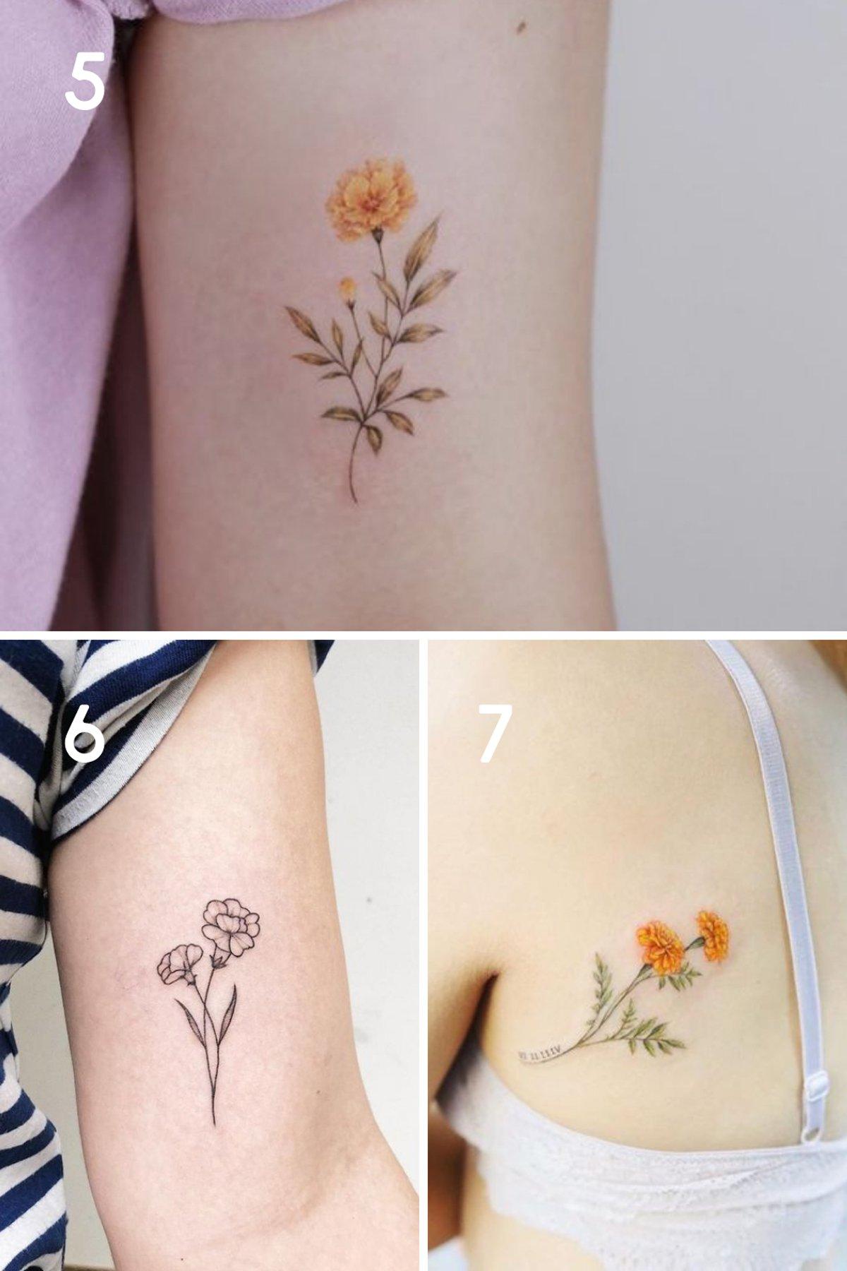 Marigold Tattoo Ideas