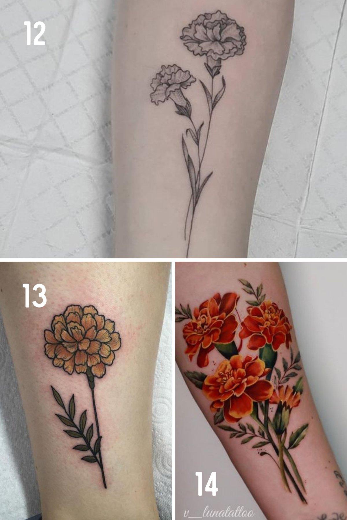 October Birth Flower Tattoo Sleeve
