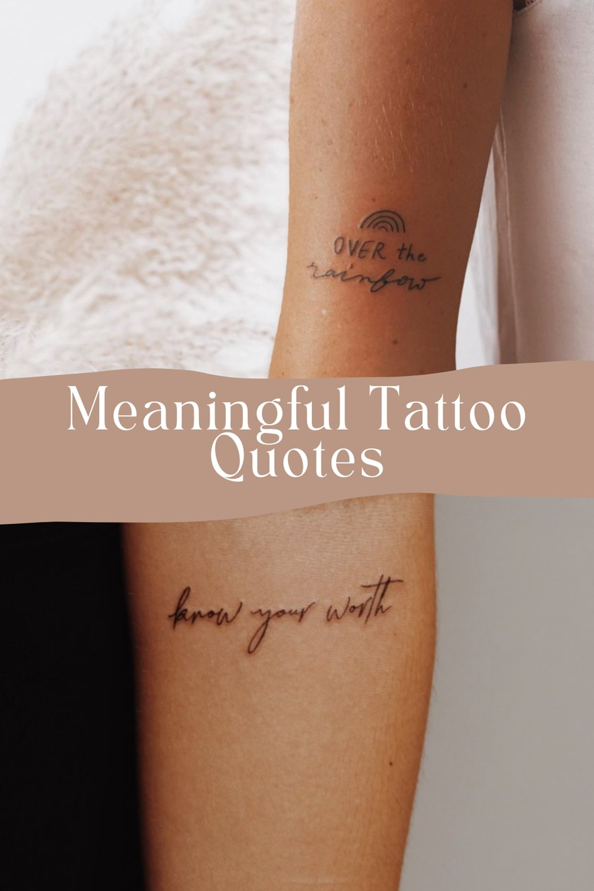 Short meaningful Tattoo Quotes