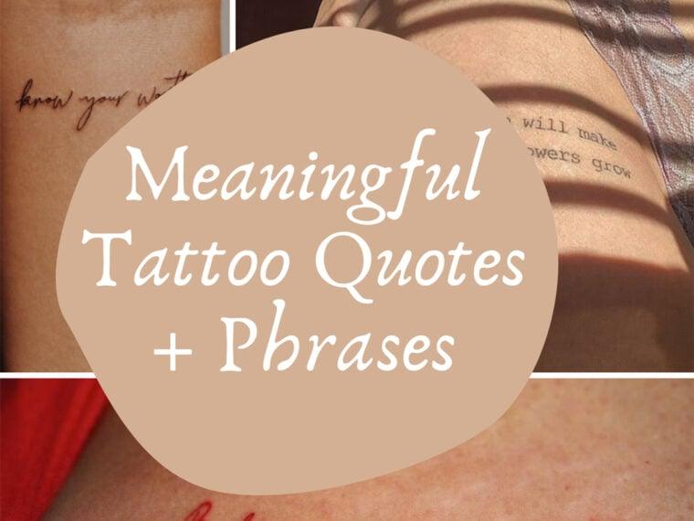 Tattooed Phrases
